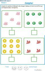 Imprimer l'exercice 5 pour apprendre à compter maternelle niveau 3