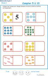 Imprimer l'Exercice 4 pour compter les formes sur des dominos Maternelle GS
