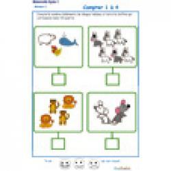 ardoise 8 : compter les élements de 1 à 6