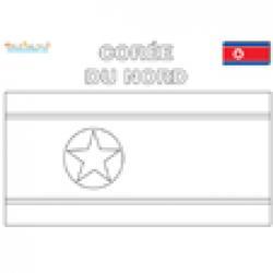 Coloriage drapeau Corée du Nord