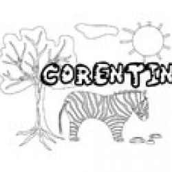 Corentin, coloriages Corentin