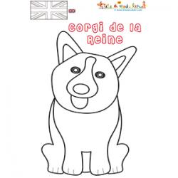 Coloriage Corgi le chien de la reine