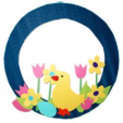 Activité pour couronne fleur printempsCouronne de printemps