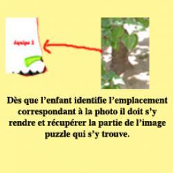 jeu de piste dans lequel les indices sont des photos.