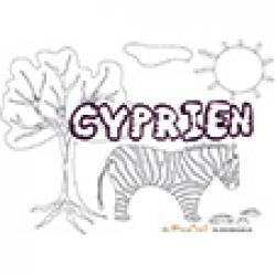 Cyprien, coloriages Cyprien