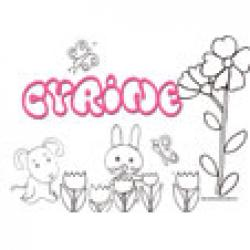 Cyrine, coloriages Cyrine