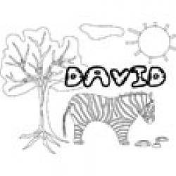 David, coloriages David