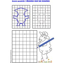 dessin quadrillé mouton