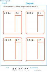 Divisions à deux chiffres - division euclidienne exercice 4