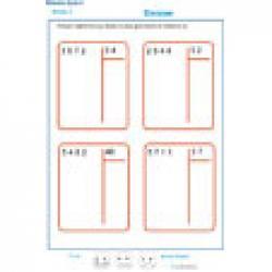 exercice 5 : divisions à deux chiffres