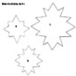 Eléments du diadème étoile à imprimer