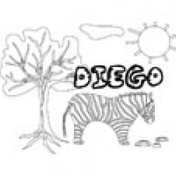 Diego, coloriages Diego