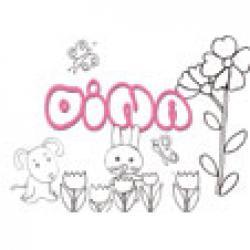 Dina, coloriages Dina