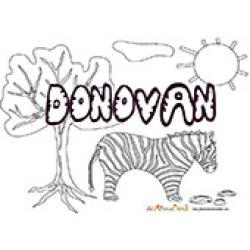 Donovan, coloriages Donovan