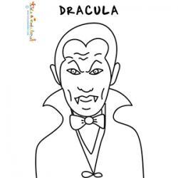 Coloriage du portrait de Dracula