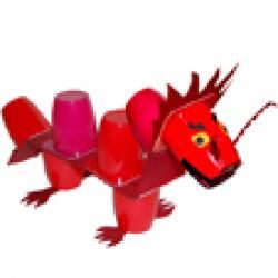 Dragon en pots de yaourt