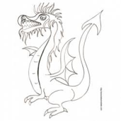 Coloriage Dragon Coloriage Dragon Imaginaires Sur Tête à Modeler
