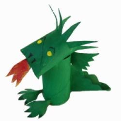 Dragon 3D en carton