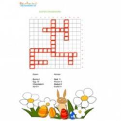 Mots croisés enfant en anglais sur Pâques