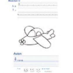 Imprimer la page d'écriture sur l'avion