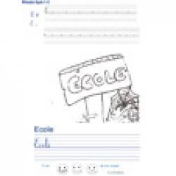 Imprimer la page d'écriture sur l'école