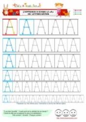 Page d'écriture du A lettres bâton