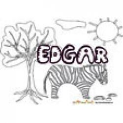 Edgar, coloriages Edgar