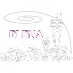 coloriage Elena