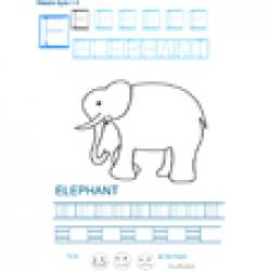 Imprimer la fiche graphisme sur E de ELEPHANT