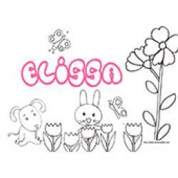Elissa, coloriages Elissa