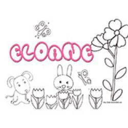 Eloane, coloriages Eloane