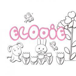 coloriage lettres de Elodie