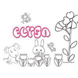 Elysa, coloriages Elysa
