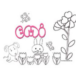 Emi, coloriages Emi