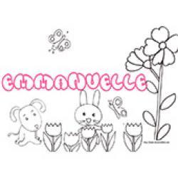 Emmanuelle, coloriages Emmanuelle