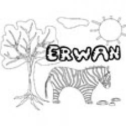 Erwan, coloriages Erwan