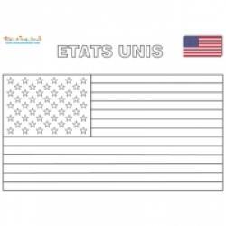 Coloriage des drapeaux d'Amérique du nord