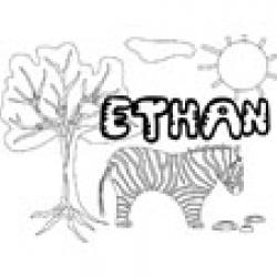 Ethan, coloriages Ethan