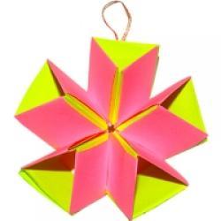 Etoile de Noël en origami en volume
