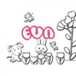Eva, coloriages Eva