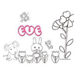 Eve , coloriages Eve
