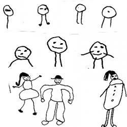 Evolution des dessins de l'enfant