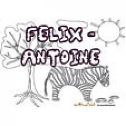 Felix Antoine, coloriages Felix-Antoine