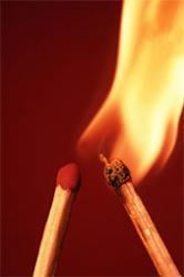 dangers du feu pour bébé