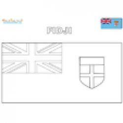 Coloriage du drapeau des Fidji