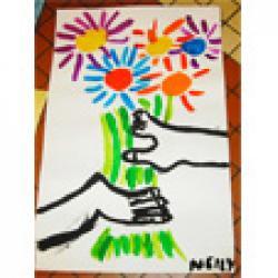 Fleurs à la manière de Picasso