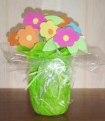 Bouquet de grosses fleurs en papier