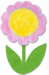 Fleur assiette en carton