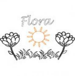 Flora, coloriages Flora