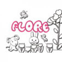 Flore, coloriages Flore